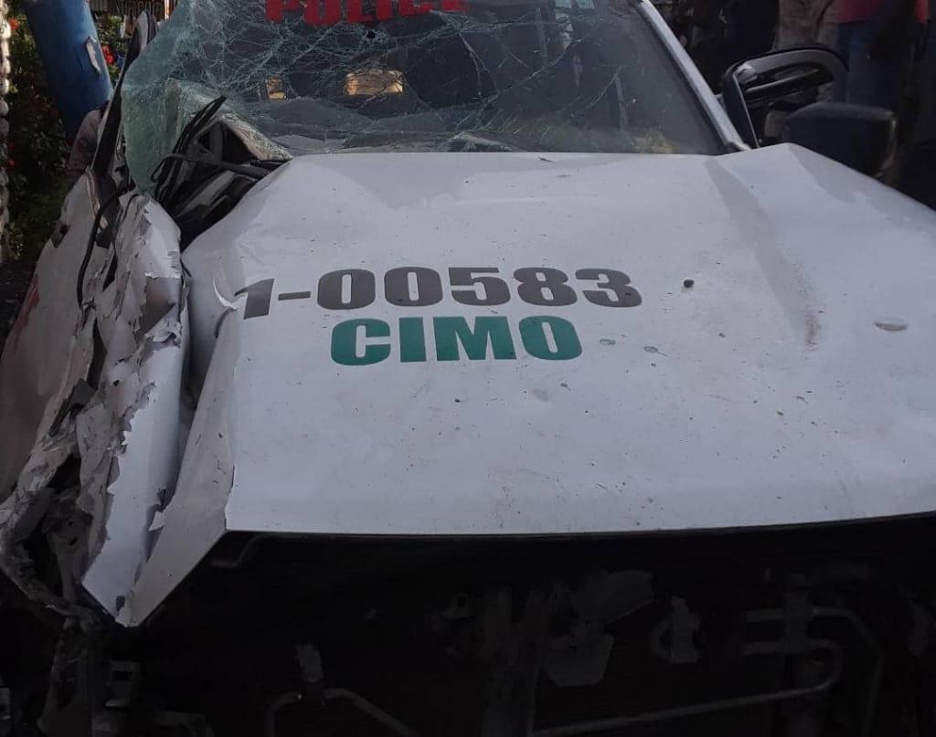 Haïti-Sud : 7 policiers impliqués dans un accident de la circulation dans un cortège présidentiel
