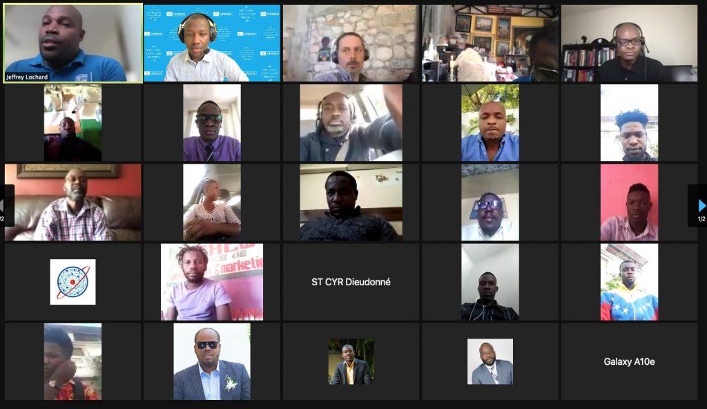 Webinaire sur la désinformation et les problématiques des médias en ligne en prélude à la journée internationale de la liberté de la presse